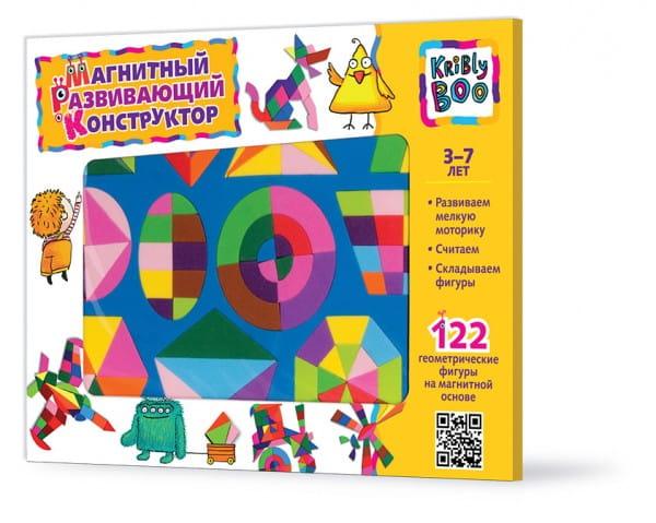 Купить Магнитный конструктор Kribly Boo (122 детали) в интернет магазине игрушек и детских товаров