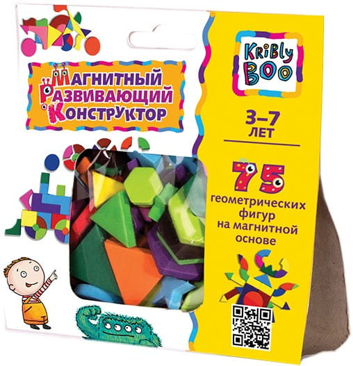 Купить Магнитный конструктор Kribly Boo (75 деталей) в интернет магазине игрушек и детских товаров