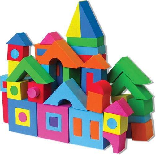 Купить Мягкий развивающий конструктор Kribly Boo - 44 детали в интернет магазине игрушек и детских товаров