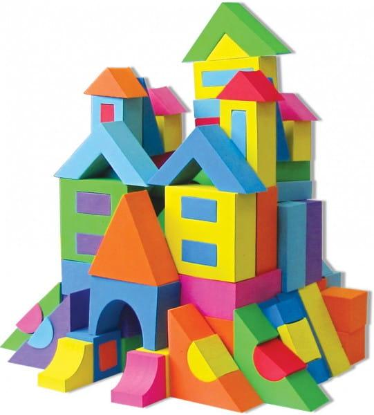 Купить Мягкий развивающий конструктор Kribly Boo - 174 детали в интернет магазине игрушек и детских товаров