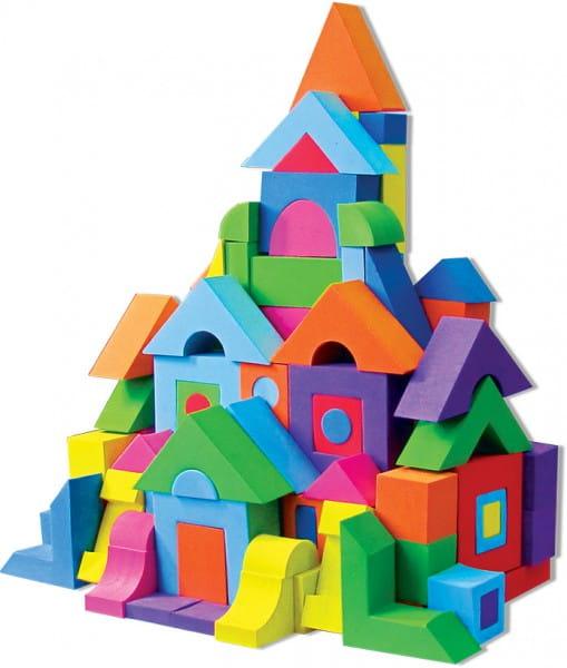 Купить Мягкий развивающий конструктор Kribly Boo - 258 деталей в интернет магазине игрушек и детских товаров
