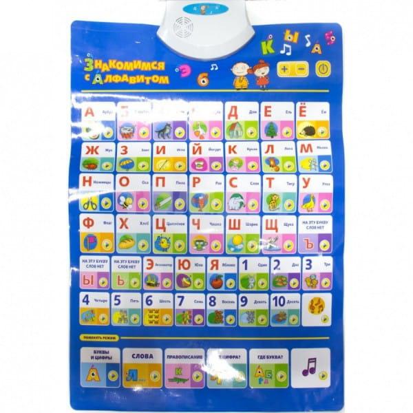 Купить Развивающий плакат Kribly Boo Знакомимся с алфавитом в интернет магазине игрушек и детских товаров