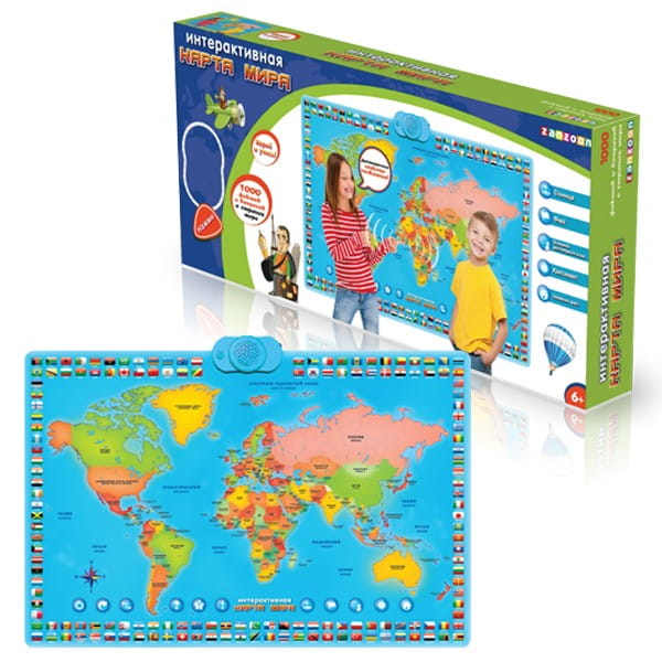 Развивающий плакат ZanZoon Карта мира