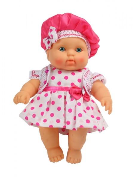Купить Пупс Весна Карапуз в платье в горошек - 20 см в интернет магазине игрушек и детских товаров