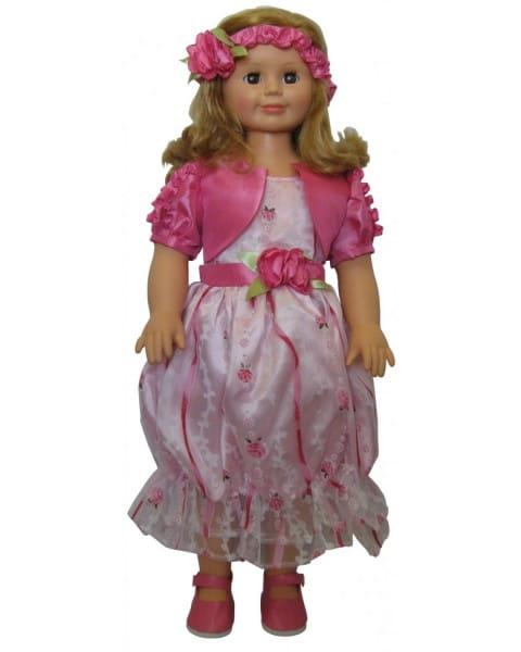 Кукла Весна Милана в розовом цветочном платье - 70 см (со звуком)