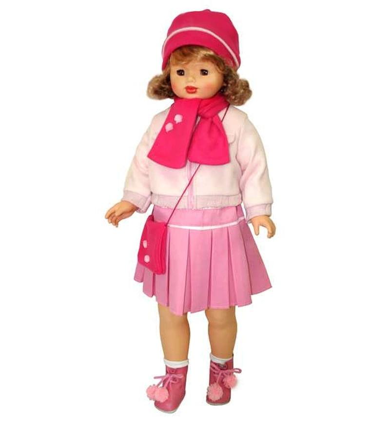 Кукла ходячая Весна Снежана в стильной юбочке и курточке - 87 см (со звуком)