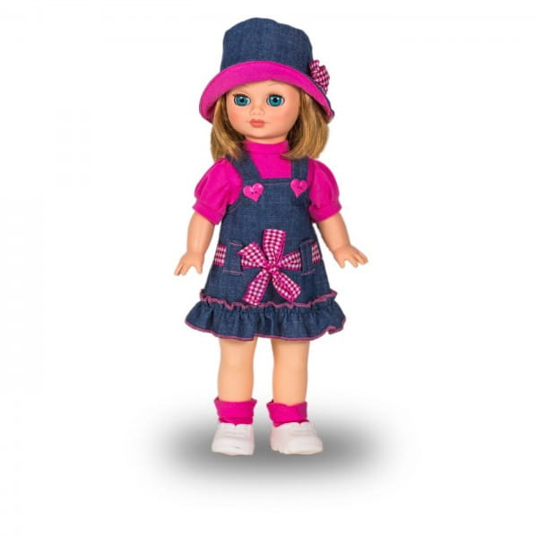 Кукла Весна Маргарита в джинсовом сарафане - 40 см (со звуком)