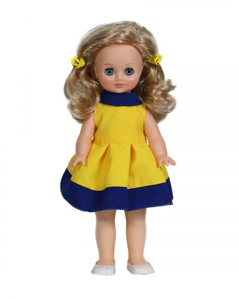 Кукла ВЕСНА Герда в желто-синем платье (со звуком)