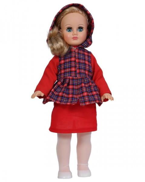 Кукла Весна Марта в клетчатом пальто с баской и капюшоном - 40 см (со звуком)