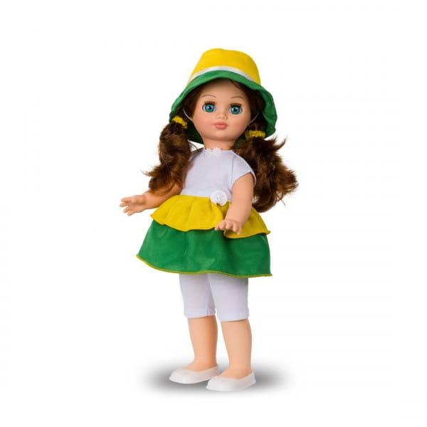 Кукла Весна Герда в ярком платье и шляпке (со звуком)