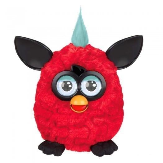 Купить Интерактивная игрушка Furby (Ферби) с хохолком красно-черный (Hasbro) в интернет магазине игрушек и детских товаров