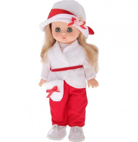 Кукла Весна Жанна в красно-белом костюмчике (со звуком)