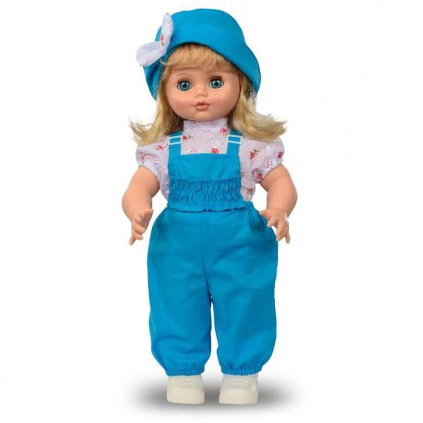 Кукла Весна Инна в голубом комбинезоне и шляпке (со звуком)