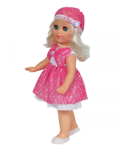 Кукла Весна В777 Алла в платьице с кружевной отделкой