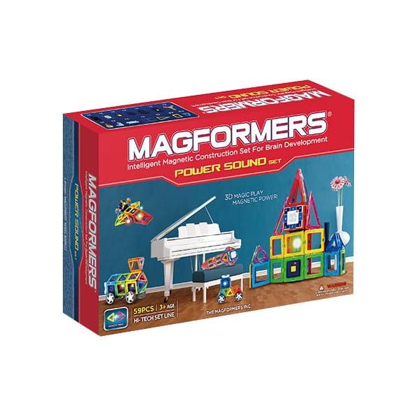 Купить Магнитный конструктор Magformers Power Sound Set (59 деталей) в интернет магазине игрушек и детских товаров