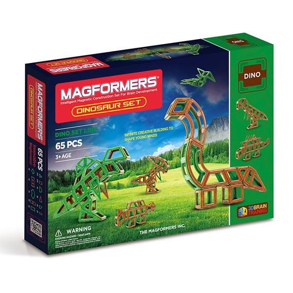 Купить Магнитный конструктор Magformers Dinosaurs set (65 деталей) в интернет магазине игрушек и детских товаров