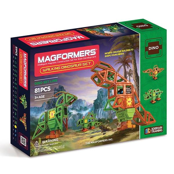 Купить Магнитный конструктор Magformers Walking Dinosaur (81 деталь) в интернет магазине игрушек и детских товаров