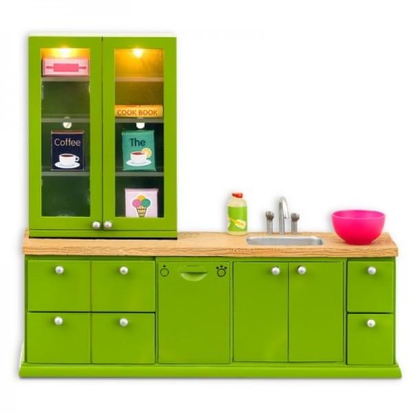 Набор мебели для домика Lundby LB_60207700 Смоланд Кухонный набор - мойка с буфетом