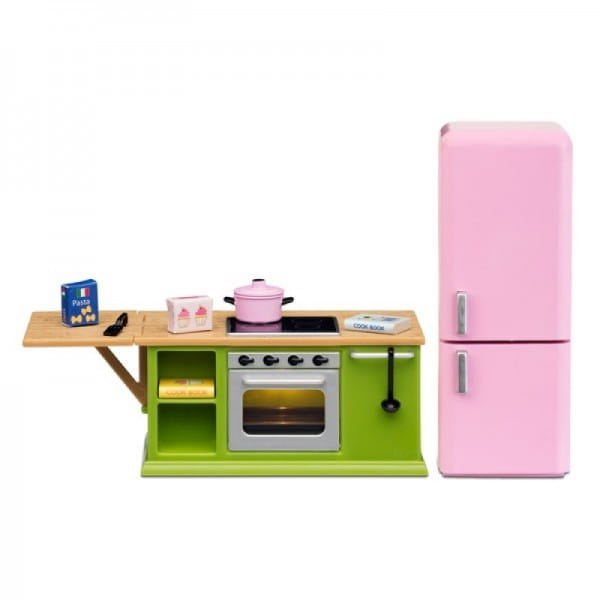 Набор мебели для домика Lundby LB_60207800 Смоланд Кухонный набор - плита с холодильником