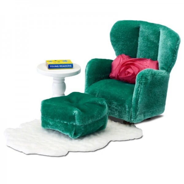 Набор мебели для домика Lundby LB_60209300 Смоланд Кресло с пуфиком