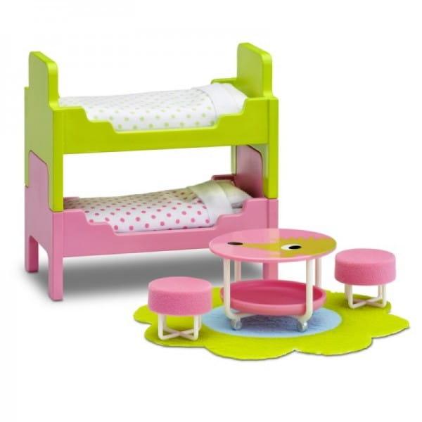 Купить Набор мебели для домика Lundby Смоланд Детская с 2 кроватями в интернет магазине игрушек и детских товаров