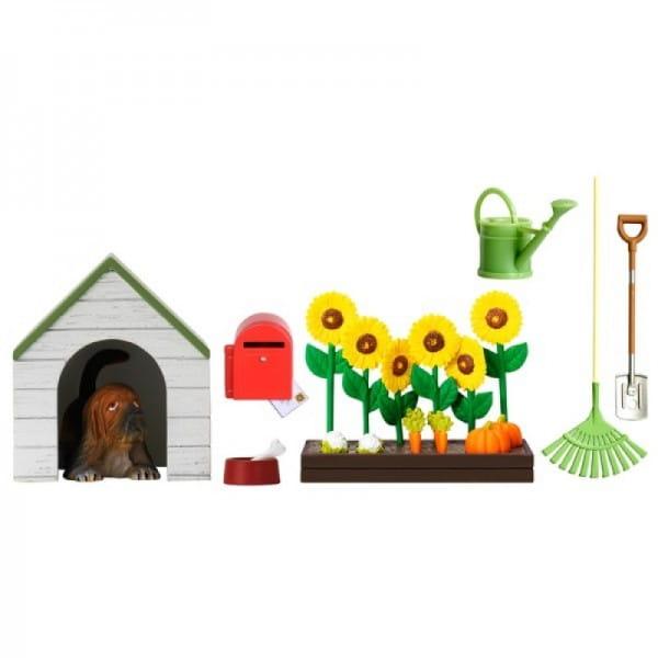 Набор мебели для домика Lundby Смоланд Садовый комплект с питомцем