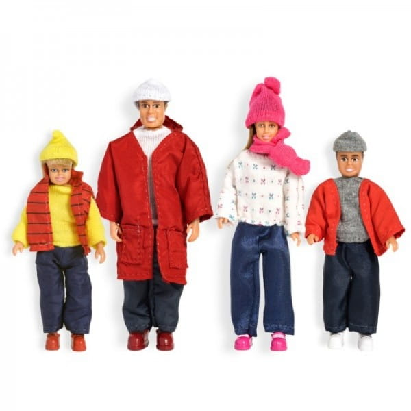 Купить Набор кукол для домика Lundby Смоланд Семья в зимней одежде в интернет магазине игрушек и детских товаров