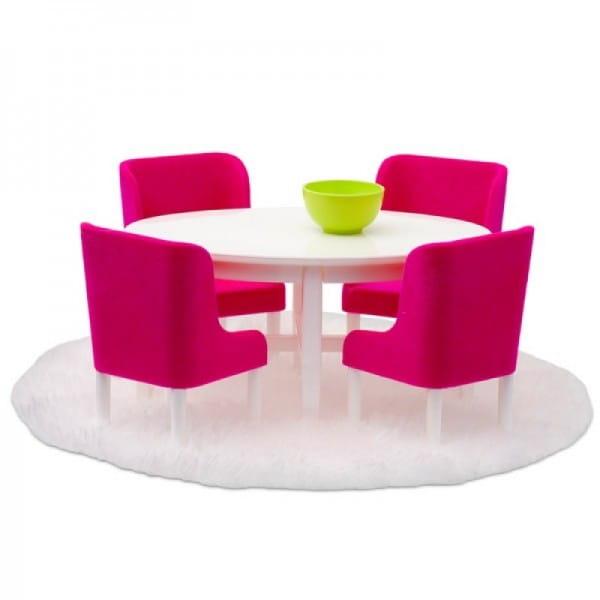 Набор мебели для домика Lundby Смоланд Обеденная группа - розовый