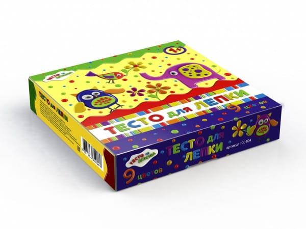 Набор для творчества Тесто из детства т00104 - 9 цветов