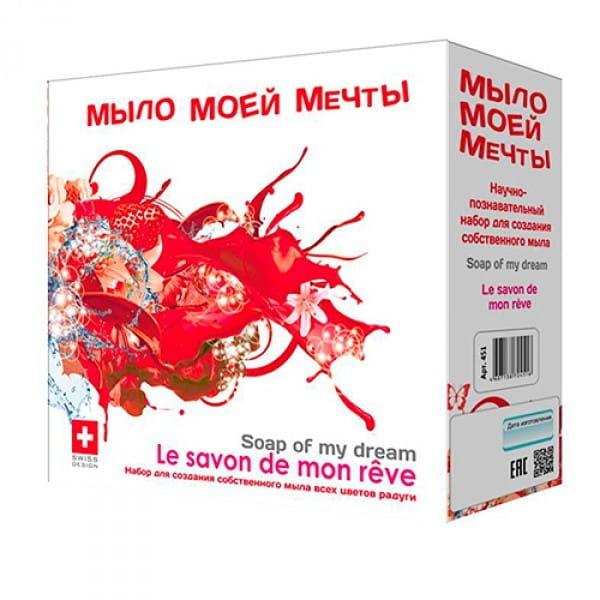 Купить Большой набор для творчества Intellectico Мыло моей мечты (красный) в интернет магазине игрушек и детских товаров