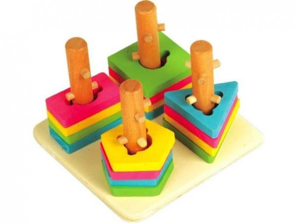 Развивающая игрушка Мир деревянных игрушек Малый логический квадрат