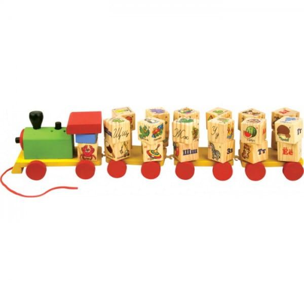 Развивающая игрушка Мир деревянных игрушек Паровозик Алфавит