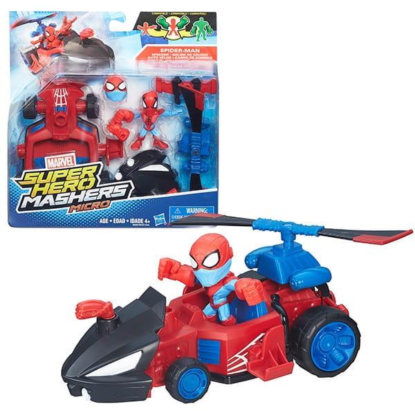 Игровой набор Hasbro Avengers Марвел (микрофигурка и машинка)