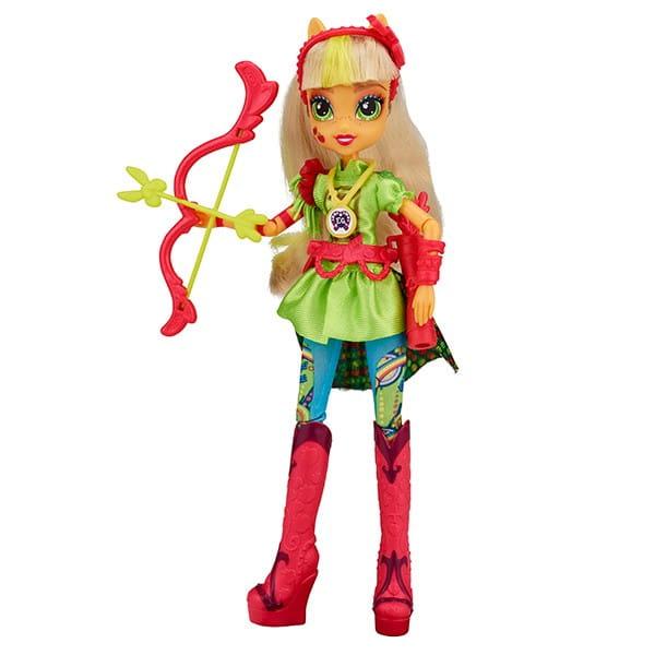 Купить Кукла My Little Pony Equestria Girls Спорт Вондеркольты Эпплджек (Hasbro) в интернет магазине игрушек и детских товаров