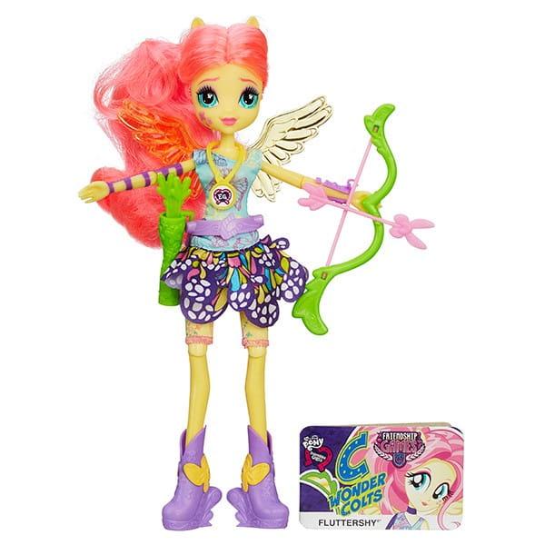 Кукла My Little Pony Equestria Girls Спорт Вондеркольты Флаттершай (Hasbro)