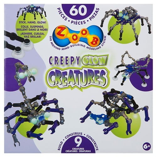 Конструктор Zoob Creepy Glow Creatures - 60 деталей