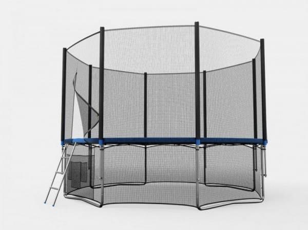 Купить Батут Unix с сеткой и лестницей 12 футов - 366 см (голубой) в интернет магазине игрушек и детских товаров