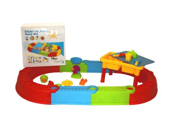 Купить Песочница Edu-Play с песочным набором и столом в интернет магазине игрушек и детских товаров