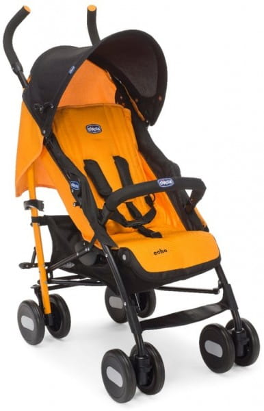Купить Коляска-трость Chicco Echo с бампером Orange в интернет магазине игрушек и детских товаров