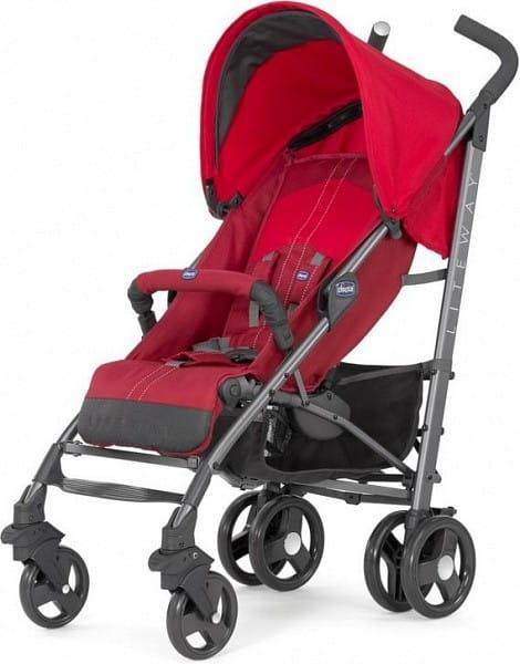 Купить Коляска-трость Chicco Lite Way Top BB Red в интернет магазине игрушек и детских товаров