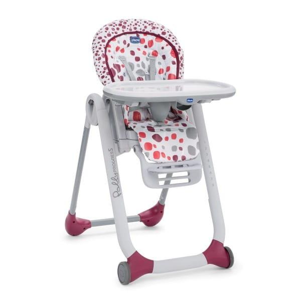 Купить Стульчик для кормления Chicco Polly Progress 5 Cherry в интернет магазине игрушек и детских товаров