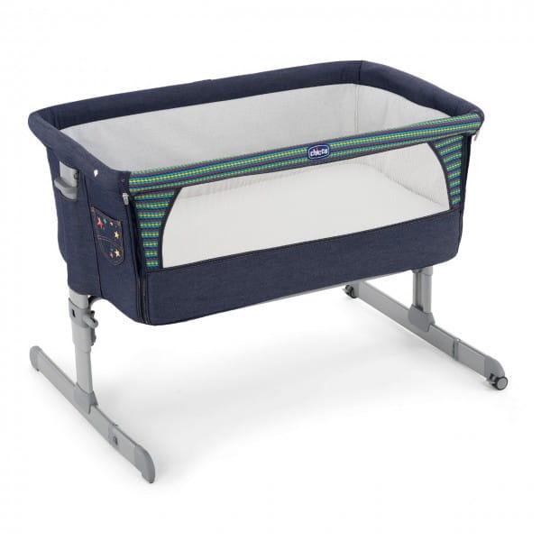 Купить Кроватка Chicco Next2Me Denim в интернет магазине игрушек и детских товаров