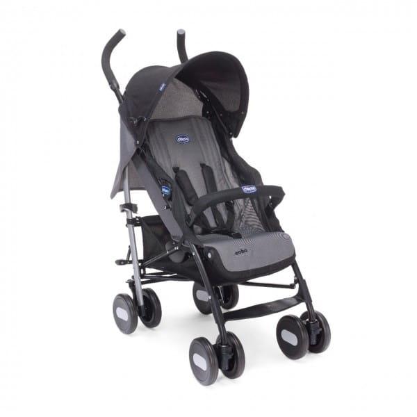 Купить Коляска-трость Chicco Echo Stroller с бампером Coal в интернет магазине игрушек и детских товаров