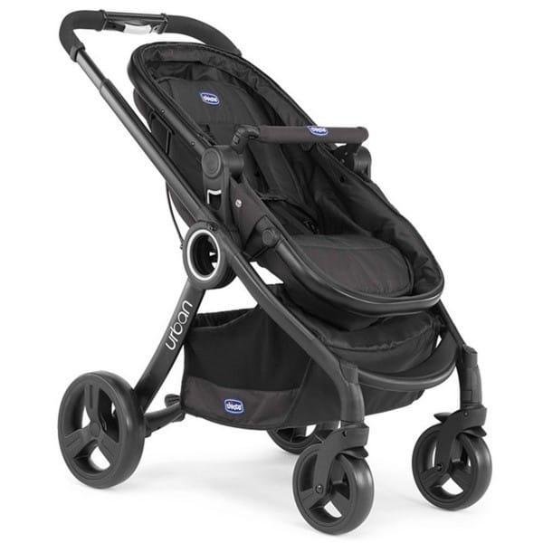 Купить Коляска-трансформер Chicco Urban Plus Black (без аксессуаров) в интернет магазине игрушек и детских товаров