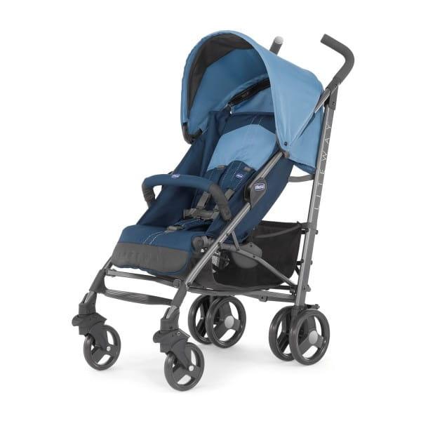 Купить Прогулочная коляска Chicco Lite Way 2 Top BB Blue в интернет магазине игрушек и детских товаров