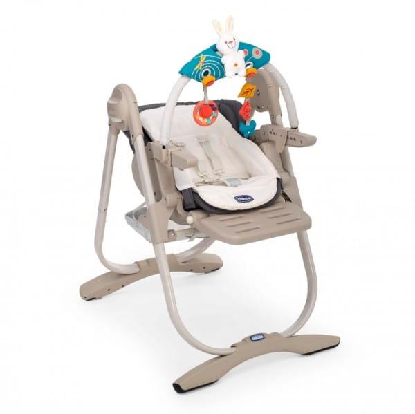 Купить Стульчик для кормления Chicco Polly Magic Grey в интернет магазине игрушек и детских товаров