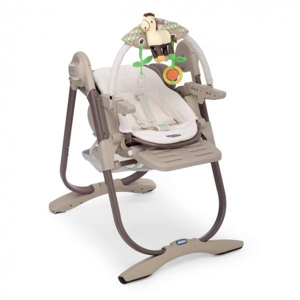 Купить Стульчик для кормления Chicco Polly Magic Cocoa в интернет магазине игрушек и детских товаров