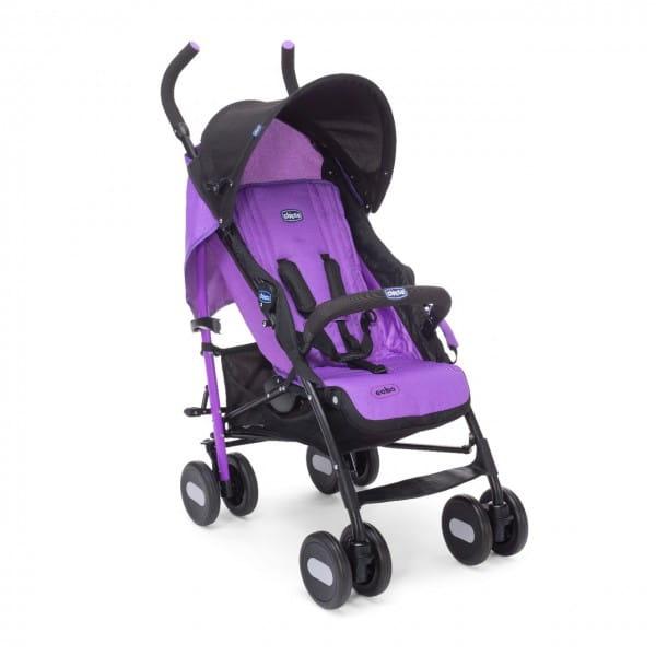 Купить Коляска-трость Chicco Echo Stroller с бампером Purple Jam в интернет магазине игрушек и детских товаров