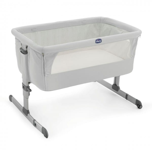 Купить Кроватка Chicco Next2Me Silver в интернет магазине игрушек и детских товаров