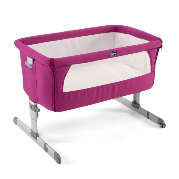 Купить Кроватка Chicco Next2Me Fuchsia в интернет магазине игрушек и детских товаров